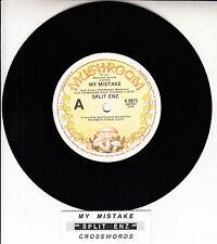 """SPLIT ENZ  My Mistake 7"""" 45 rpm vinyl record + juke box title strip"""