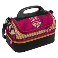 Queensland Maroons Origin NRL Insulated Lunch Print Dome Cooler Bag Lunch Box