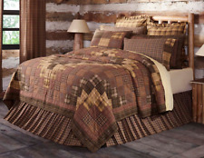 Prescott Luxury Cal King Quilt Brown/Tan Primitive/Rustic Block Plaid Vhc Brands