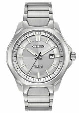 NEW Citizen Eco-Drive AW1540-88A Men's Watch 44mm  Super Titanium Silver Dial