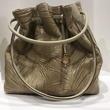 Brahmin Double Ring Leather Bucket Bag