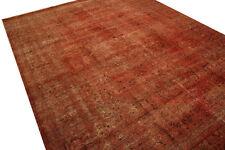 Tapis Vintage Overdyed 390x287 cm 100% laine usé Aspect Rouge