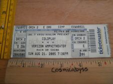 COLDPLAY 2005 concert Full ticket Los Angeles ORIGINAL