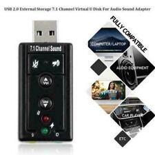 External Virtual USB 3D 7.1 Channels Stereo Sound Card Audio Adapter Converter