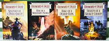 Set of 4x Raymond E Feist The Serpentwar Saga Fantasy Books! 1st Edition!