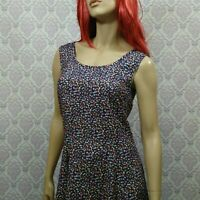 Vintage 90s Ditzy Floral Dress Womens Size 9/10 Grunge Granny Sleeveless Rayon