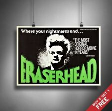 A3 or A4 Size * ERASERHEAD 1977 Movie Poster * David Lynch Vintage Art Print
