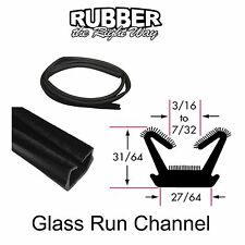 "Universal Window Run Channel - Flexible - 31/64"" Tall X 27/64"" Wide - 8' Strip"