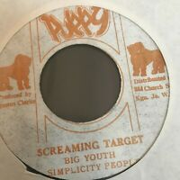 Big Youth - Screaming Target  / Concrete Jungle 45 PUPPY 1973  Reggae Jamaica NM