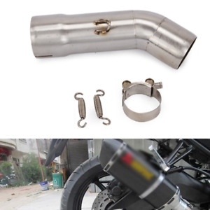 Fit For Yamaha FZ8 FZ8N Exhaust Pipe Motorcycle 51mm Mid Link Pipe