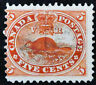 *Kengo* Canada Stamp #15 Beaver 5 cents used CV$20 @332