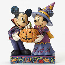 Disney Traditions Jim Shore Dracula Mickey Witch Minnie Halloween Host Figurine