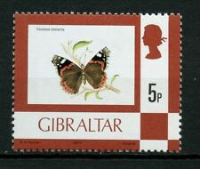 Gibraltar 1977-82 Sg # 380, 5p Mariposa, definitivo Mnh #a 58920