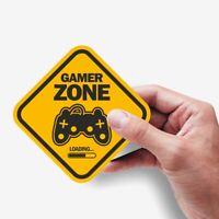 2 x Gamer Zone Loading Aufkleber, die Sticker für PC Konsole, Gaming Zone Area