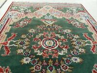 """Vintage Hand Knotted Oriental Rug, 4' X 5'9"""""""