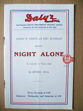 DALY'S THEATRE Prog 1937- A B Limpus & E Blankley's NIGHT ALONE by Jeffrey Dell