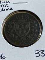 1826 Italian States Sardinia 5 Centesimi!!