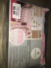 Carter's Jungle Collection Pink Daisy Print Mesh Secure Me Crib Liner