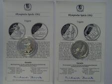 Ungarn - 2 x 500 Forint - Olympische Spiele 1992 - Silber - PP - Eish. / Feuer
