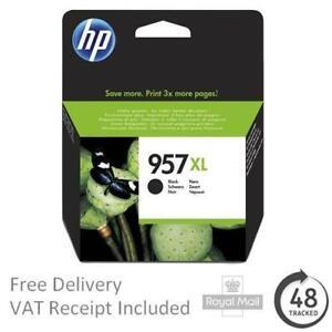 Original HP 957XL (953XL Extra High Capacity) Black Ink Cartridge L0R40AE (2018)