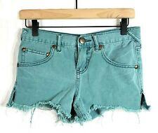 Free People Distressed Denim Cut Off Shorts Womens Juniors Size 24 Vented Hem