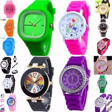 Ladies,Men Soft Silicone Strap Band Analog Quartz Wrist Watch selection NEW