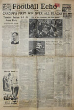 CARDIFF v NEW ZEALAND ALL BLACKS 1953 SOUTH WALES FOOTBALL ECHO RUGBY NEWSPAPER