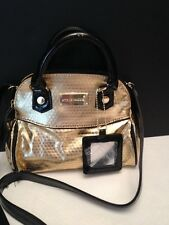 Steve Madden Mini Crossbody Gold /Black Goldtone hardware New with Tags