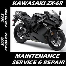New listing Kawasaki Zx-6R Ninja Zx 600 Maintenance Service Repair Manual 2007 2008 Zx6R