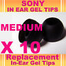 10 SONY MDR EX CX In Ear Buds HeadPhones Headset Earphones Gel Tips Medium