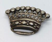 Vintage Sterling Silver Brooch Pin 925 King Crown