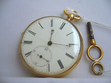 antico orologio francese fine '800 cassa in oro pieno 18 carati - funzionante