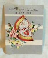 Mid Century F & Co. Greeting Card Valentine's Day Card applied heart box