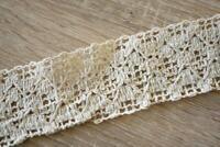 3 Meters TR814 Lace Beige/Cream 6cm Wide Trim Cotton
