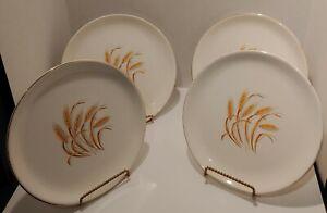 Golden Wheat Dishes 22K Gold Trim Plates Bowls Cups Saucers Creamer/Sugar Gravy