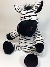 "Manhattan Toy ZEBRA Plush Hand Puppet Black White Soft Stuffed Animal 14"""
