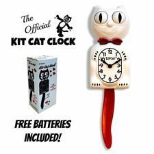"Candy Caña Kit Gato Reloj 15.5"" Rojo Blanco Kit-Cat Klock Gratis Batería En Eeuu"