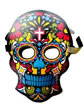 Skull Cross Rave Full-Face Mask Flashing Sound Activated Halloween Club Costume