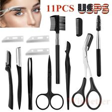 Eyebrow Razor Facial Hair Remover Trimmer Shaper Gooming Brush Dermaplaning Tool