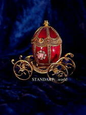 Russian Imperial Empress Alexandra Egg Coach and Egg Pendant Necklace