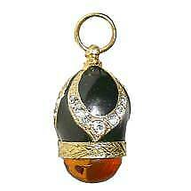 Russian Egg Faberge Pendant MAJESTIC PENDANT Sterling Silver enamel and gold