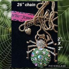 Spider Betsey Johnson Green Necklace Usa Seller