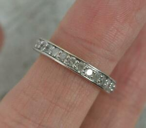 1.00ct Diamond 9ct Gold Full Eternity Stack Band Ring Size K
