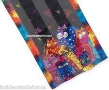 Laurel Burch SCARF Cat Whiskered Family Oblong New