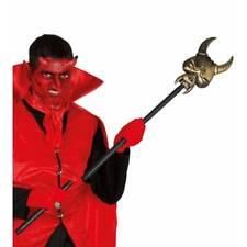 Long Demon Face Devil Stick 105cm Halloween Weapon Fancy Dress Prop