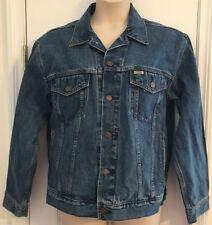 Levis Jean Jacket Mens Denim Size M Levi Strauss Signature Metal Buttons Dark