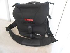 CANON CAMERA TRAVELING BAG--BY TAMRAC--BLACK WITH SHOULDER STRAP AND HANDLE
