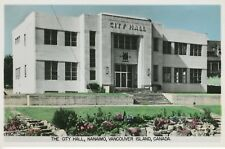 City Hall Nanaimo BC Vancouver Island British Columbia Real Photo Postcard RPPC