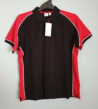 Biz Collection Ladies P10122 Nitro Black / Red Short Sleeve Polo Size 16 New