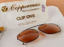 "Vintage Coppermax Clip On Sunglasses ""Good For Shooting, Driving"" 100% UVB & UVA"